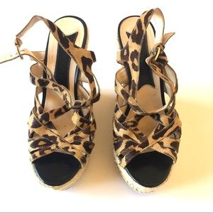 Boutique 9 tall wedges leopard print